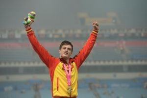 Noel del Cerro, salto de oro en Nankín