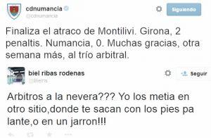 El Numancia y su portero Biel Ribas podrían ser sancionados duramente por sus comentarios