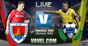 Resultado Numancia - Alcorcón en la jornada 20 de la Liga Adelante (2-2)