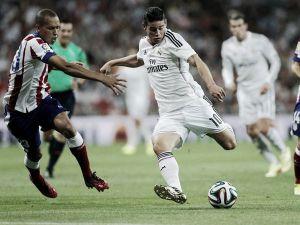 Real Madrid, con James Rodríguez, empató en casa del Atlético
