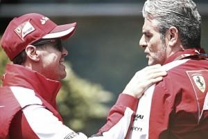 Maurizio Arrivabene le da un toque a Sebastian Vettel con su renovación