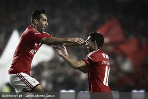 Jonas y Salvio lideran la victoria del Benfica