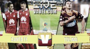 Resultado Santa Fe vs Tolima en vivo online (1-0)