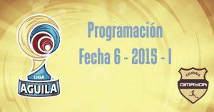 Programación de la sexta fecha de la Liga Águila 2015–I