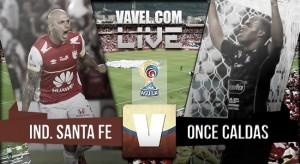 Resultado Santa Fe vs Once Caldas en la Liga Águila 2016-I (2-0)