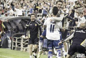 Fotos e imágenes del Real Zaragoza 2-1 Real Racing de Santander, de la novena jornada de Segunda División