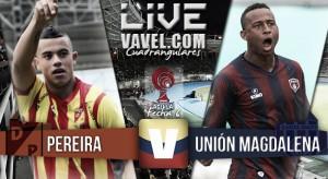 Resultado Deportivo Pereira vs Unión Magdalena en el Torneo Águila 2015 (3-0)