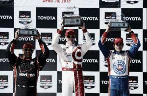 Juan Pablo Montoya, tercero en Long Beach pero comandante de la IndyCar 2015