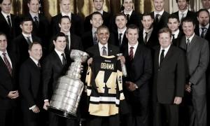 Los Penguins visitan la Casa Blanca