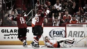 Arizona Coyotes open season with overtime win against Philadelphia Flyers