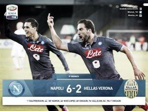 Il San Paolo sorride, Napoli batte Verona 6-2