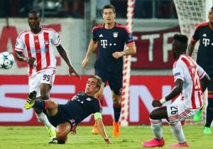 Risultato Bayern Monaco - Olympiakos (4-0): tedeschi solita macchina e si qualificano come primi