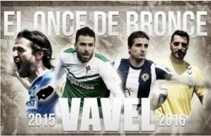 Once de Bronce: Segunda División B, jornada 35