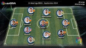La LFP incluye a Denis Suárez en el once ideal de septiembre