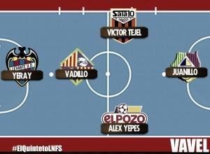 Quinteto ideal de la 7º jornada de la Liga Nacional de Futbol Sala