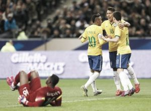 France 1-3Brazil: Selecao see off Les Bleus