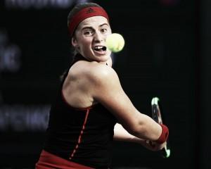 WTA Indian Wells: Jelena Ostapenko ousts Belinda Bencic in thrilling contest