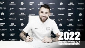 Em boa fase, zagueiro Nicolás Otamendi renova com Manchester City até 2022
