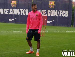 Rakitic y Neymar entrenan con normalidad