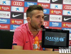 """Jordi Alba: """"El Eibar nos pondrá las cosas difíciles, nos pueden pintar la cara"""""""