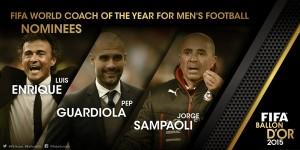 FIFA Coach of the year: Sampaoli, Guardiola e Luis Enrique sul podio. Fuori Allegri