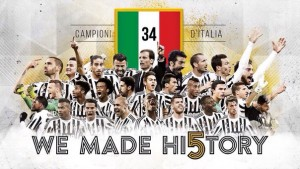 «Ювентус» в пятый раз подряд становится чемпионом Италии