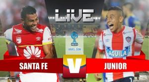 Santa Fe vs Junior en vivo y en directo online en cuartos de final Liga Águila 2015 (0-0)