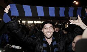 """Podolski: """"Forza Inter, torniamo in Champions!"""""""