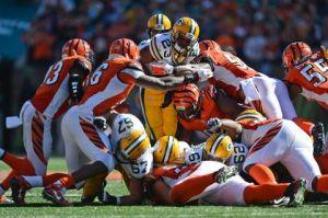 Los Bengals sorprenden a los Packers en un partido repleto de errores
