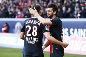 Javier Pastore y Thiago Motta bajas ante el Caen