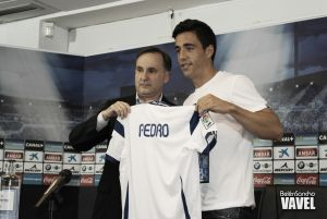 Fotos e imágenes de la presentación de Pedro Sánchez con el Real Zaragoza