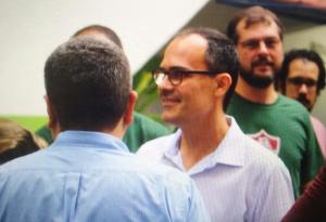 """Na primeira coletiva como presidente, Abad confirma projeto de estádio: """"Próximo passo é a revitalização do terreno"""""""