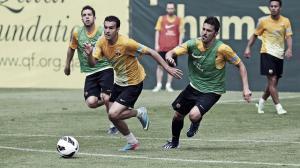 Vilanova vuelve de Nueva York y ya entrena al equipo