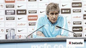 """Manuel Pellegrini: """"Cada uno de los 38 partidos hay que jugarlos como una final"""""""