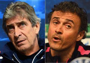 """Barcellona - Manchester City: Luis Enrique """"Non ci fidiamo del City"""", Pellegrini """"Fondamentale restare 11 vs 11"""""""