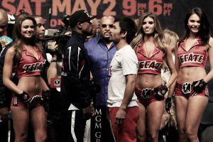 Floyd Mayweather - Manny Pacquiao superan el pesaje previo a la pelea