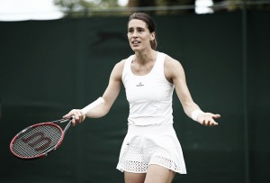 Wimbledon: Andrea Petkovic leads Nao Hibino before the rain delay
