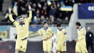 Slovenia 1-1 Ukraine (1-3 on aggregate): Ukrainians hold off home fightback to qualify for France 2016