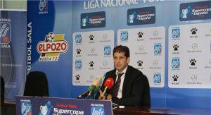 Velasco y Duda tras el partido de ida de la Supercopa