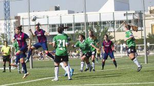 El FC Barcelona, primer equipo que derrota al Oviedo Moderno