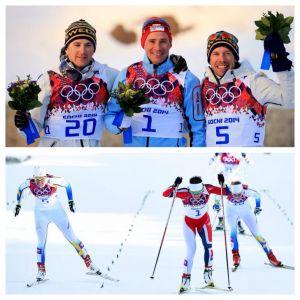 Noruega copa lo más alto del podio en esquí de fondo