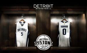 Los Detroit Pistons estrenan uniformes