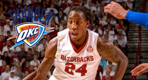 OKC Thunder Ink Arkansas' Michael Qualls to One-Year Deal
