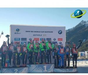 Biathlon - Anterselva 2017, Staffetta femminile: vince la Germania, ma è terzo posto Italia