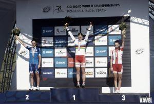 Fotos e imágenes de la ruta junior femenina del Mundial de ciclismo de Ponferrada 2014