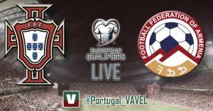 Portugal vs Armenia en vivo y