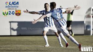 Fotos e imágenes del Leganés 2-0 Barcelona 'B', jornada 20 de la Liga Adelante