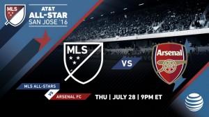 Arsenal FC, rival AT&T MLS All-Stars 2016