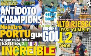 Las portadas del 18 de septiembre de 2012