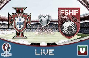 Portugal vs Albania en vivo y en directo online